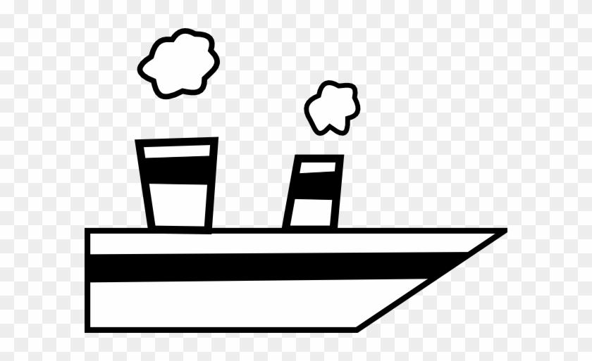 Ship Clipart Free Public Domain Clipart Clipart - Cartoon Ship Black And White #18687
