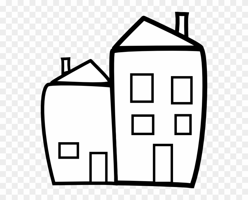 Building Clip Art - Building Clipart Black And White #18712