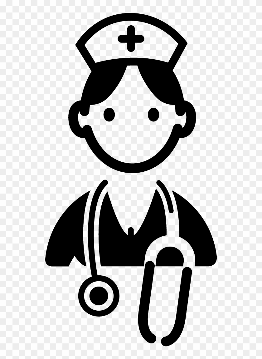 Nurse Clipart Black And White - Doctor Clipart Black And White #18726