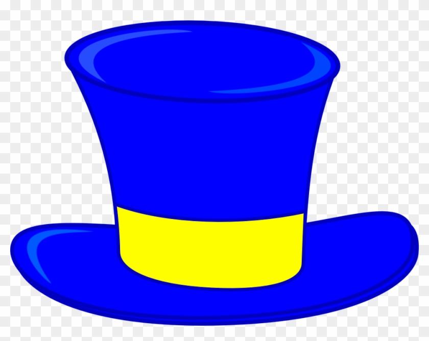 Top Hat Clipart Blue Top Hat Clip Art At Clker Vector - Clip Art Top Hats #18737