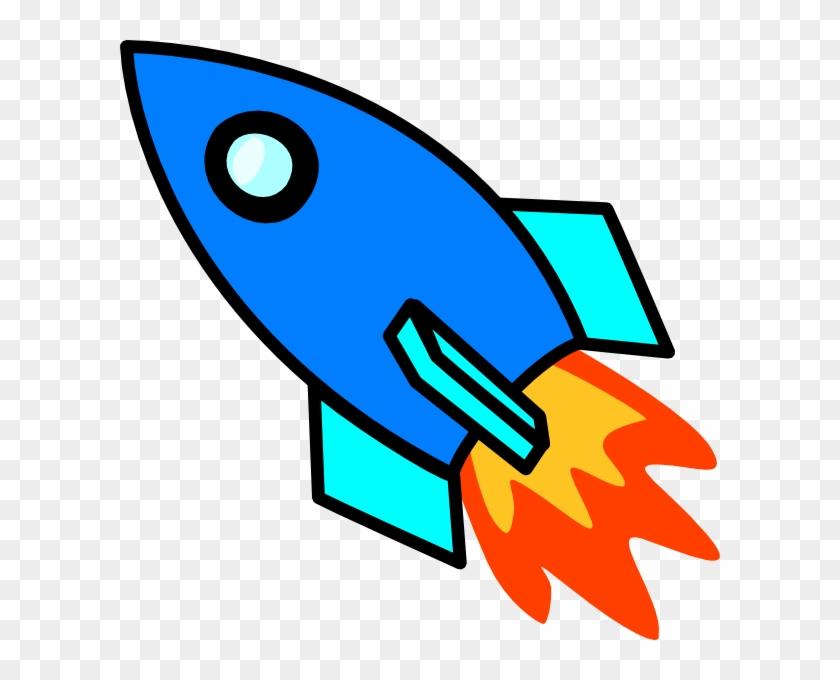 Blue Rocket Clip Art At Clker Vector Clip Art Online - Rocket Ships Clip Art #18766
