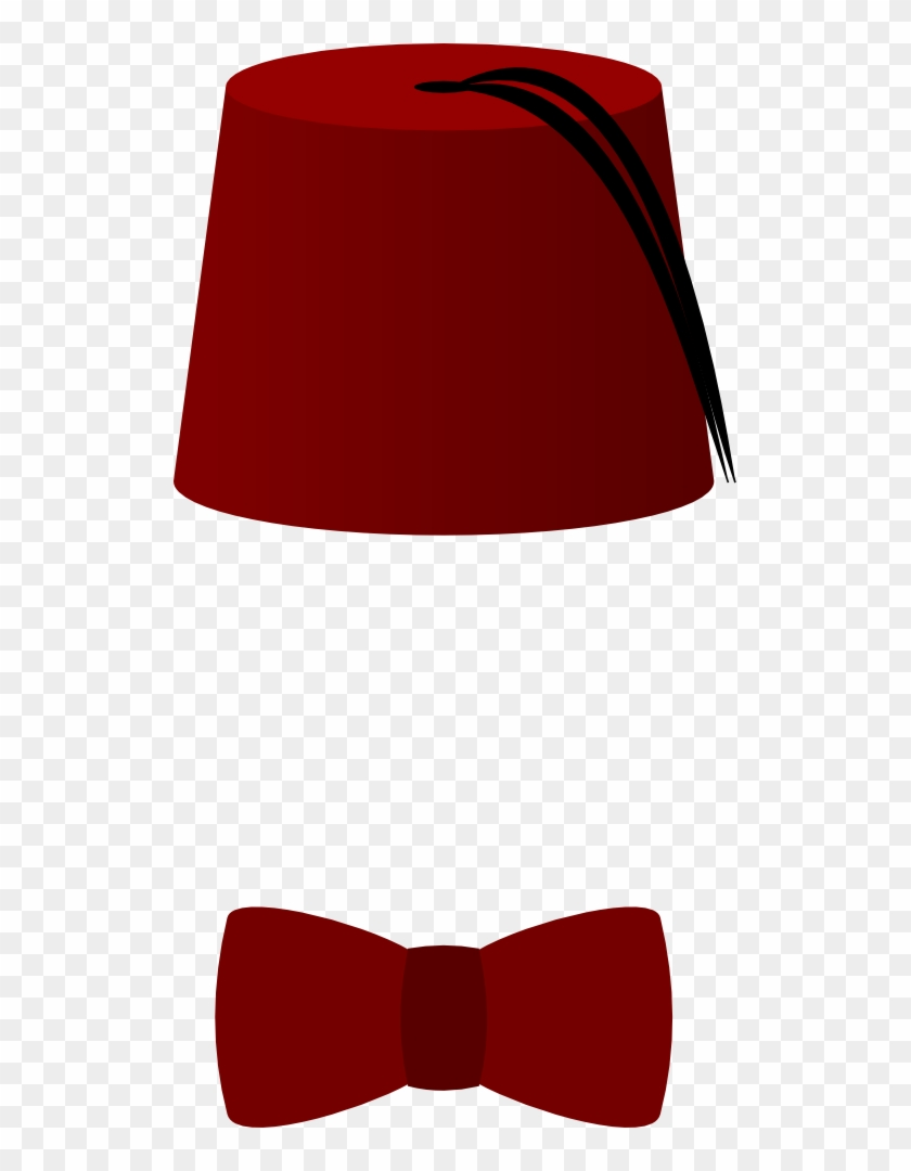 Doctor Who Clipart Fez - Bow Tie And Fez #18786
