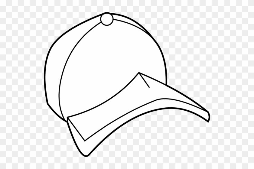 Baseball Hat Baseball Cap Coloring Page Free Clip Art - Cap Clipart Colouring #18828