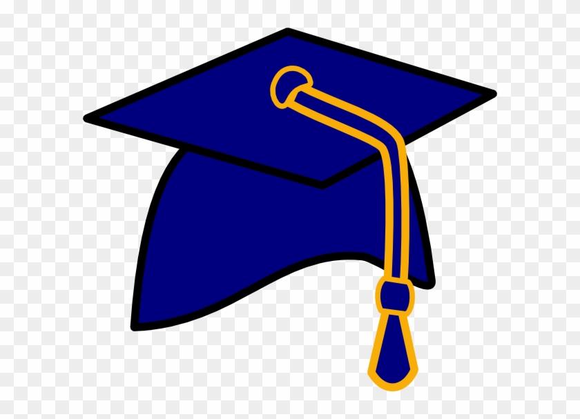 Graduation Hat Free Clip Art Of A Graduation Cap Clipart - Blue And Yellow Graduation Cap #18843