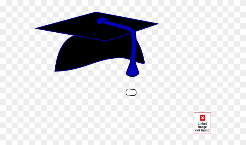 Black Graduation Cap Blue Tassel Clip Art At Clker - Graduation Cap And Tassel #18886