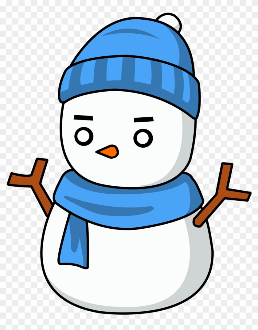 Snowman With Blue Hat #18895