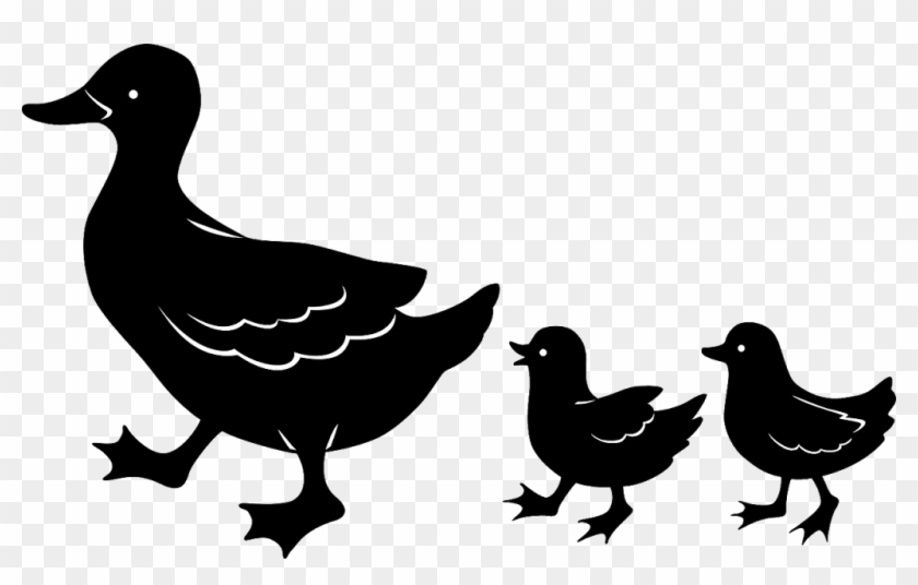 Duck Family Silhouettes Clip Art - Not Tested On Animals #18901