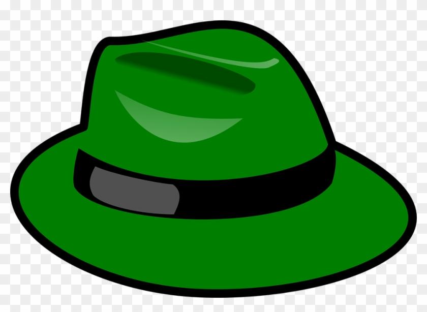 Green Hat Clip Art At Clker Vector Clip Art - 6 Sombreros Para Pensar #18919