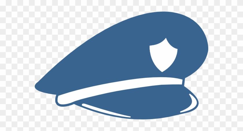 Cop Hat Police Blue White Clip Art - Cop Hat Png #18921