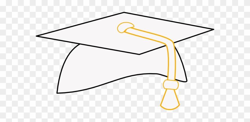 Graduation Clipart White Cap - Graduation Cap Clipart Png #18952