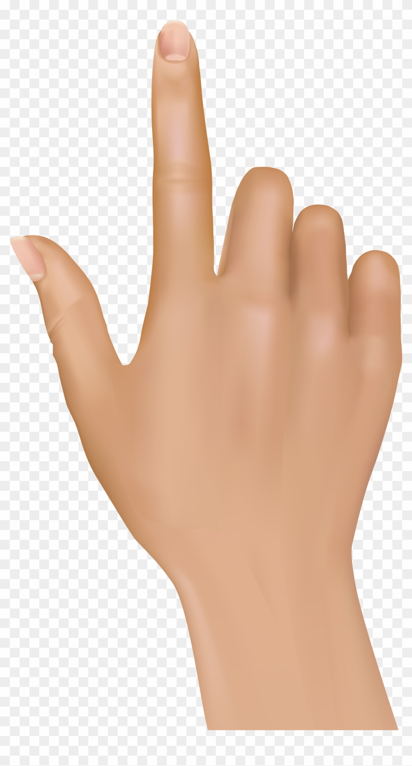 Tuching Finger Hand Png Clip Art - Hand Png #18992