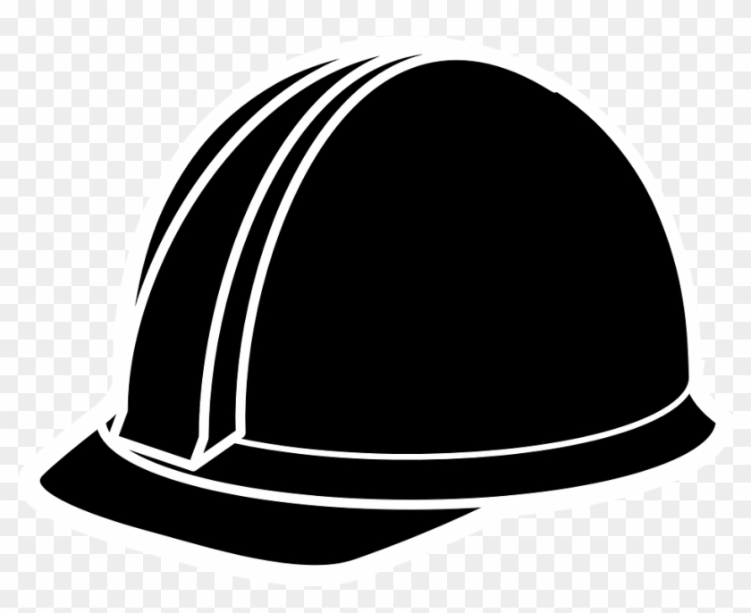 Cap Clipart Engineering - Construction Hat Clip Art Black And White #18997