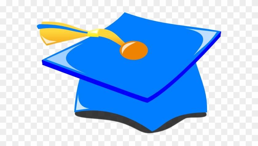 Graduation Hat Blue And Gold Svg Clip Arts 600 X 396 - Graduation Cap Blue And Gold #19000