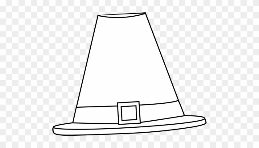 Black And White Pilgrim Hat - Pilgrim Hat Clipart Black And White #19004
