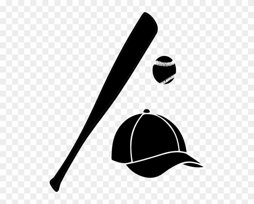 Bat Black And White Halloween Bat Clipart Black And - Baseball Cap And Bat #19005