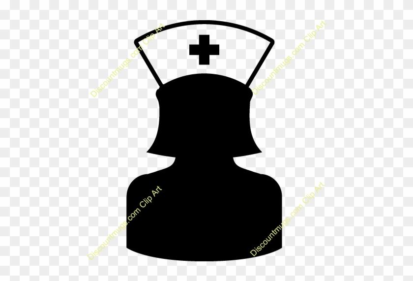 Nurse Clipart Silhouette - Nurse Silhouette Clipart #19048