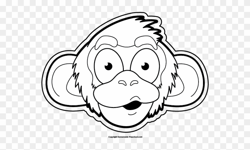 Monkey Black And White Free Monkey Clipart - Monkeys Black And White Clip Art #19055