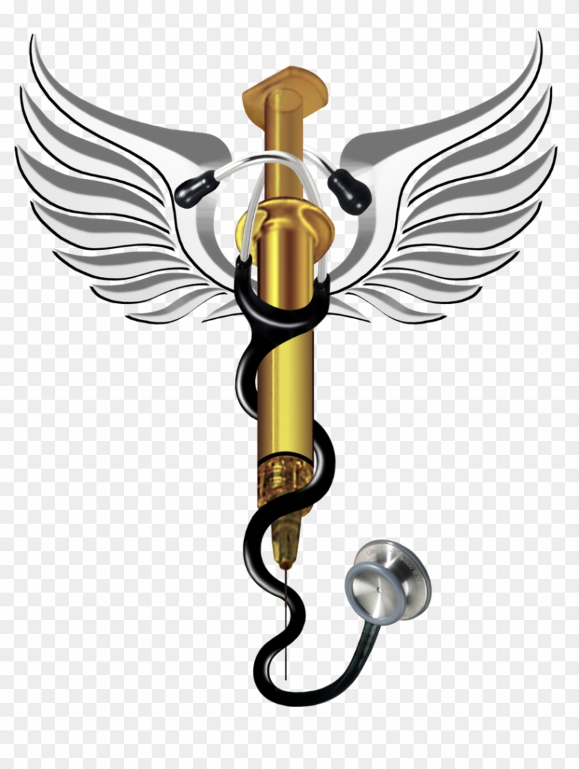 Medical Clipart Doctor Symbol - 5star With Wings Tattoo #19056