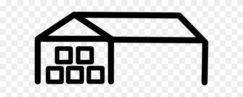 Black Warehouse Building Clipart - Outline Of A Warehouse #19067