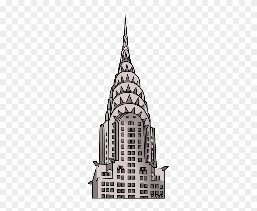 United States Clip Art By Phillip Martin, New York - New York Building Clipart #19085
