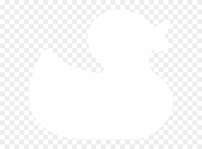 Duck Silhouette Clip Art - Rubber Duck Silhouette Png #19105