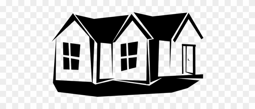 Image Of House Clipart Black And White - Rumah Vektor #19109