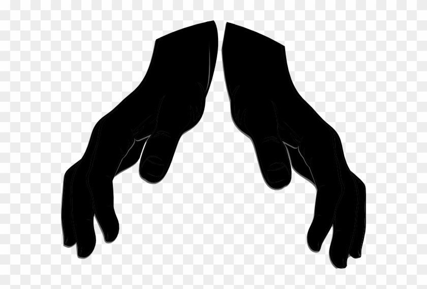 Giving Hand3 Clip Art At Clker - Open Hands Silhouette Png #19140