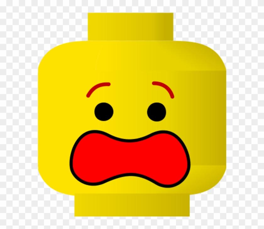 Lego Scared Face Clipart - Lego Face Clip Art #19156