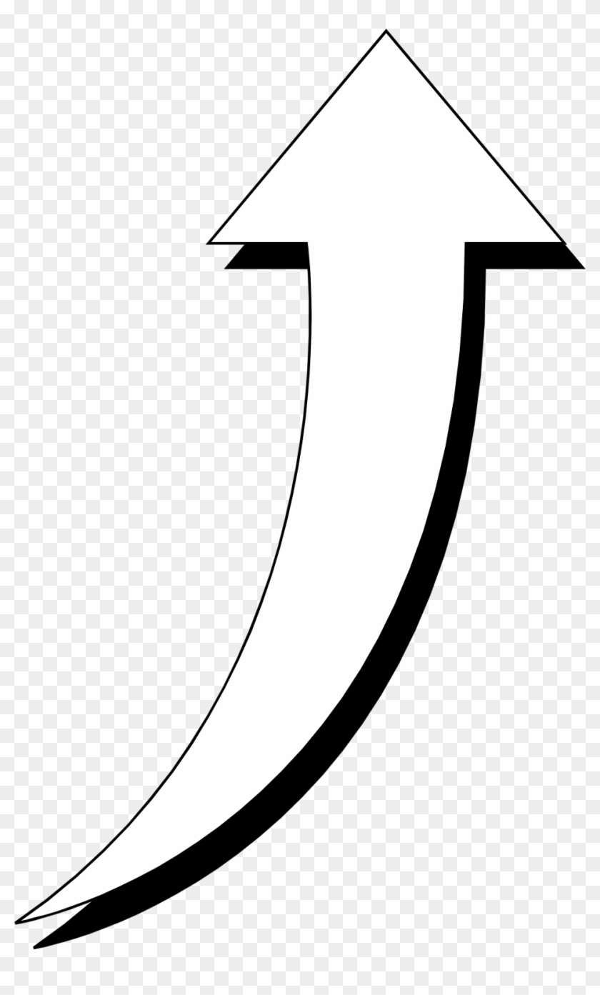Curved Arrow Arrow Black And White Clipart Kid - Free Clipart Curved Arrow #19166