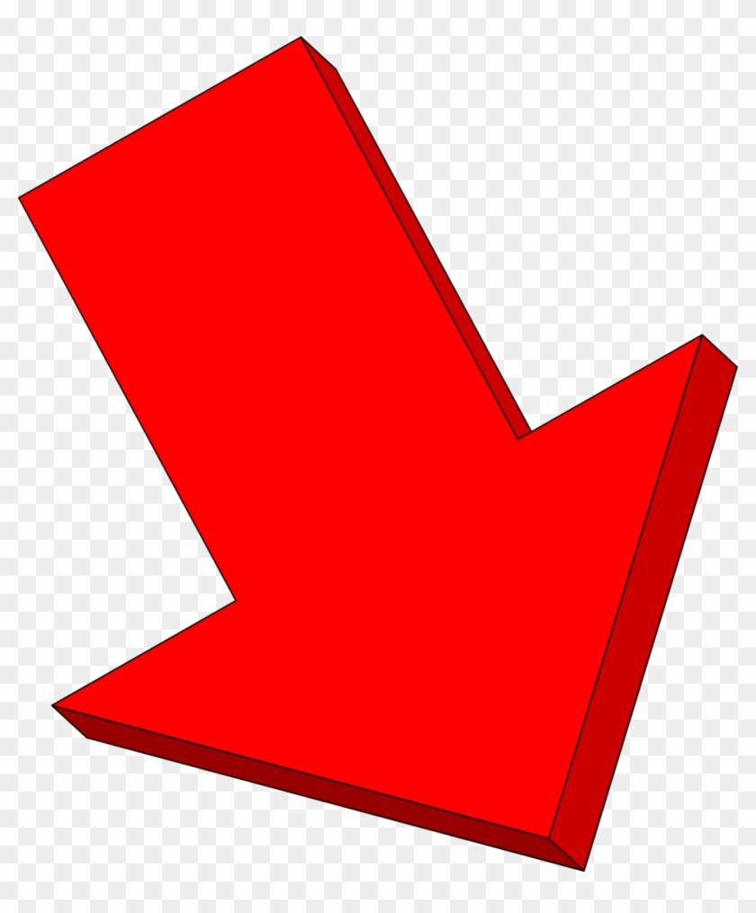 Excellent Arrow Down Clip Art Medium Size - Decrease Red Arrow #19168
