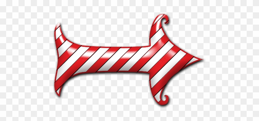 Arrow Clipart Christmas - Candy Cane Arrow Clipart #19178