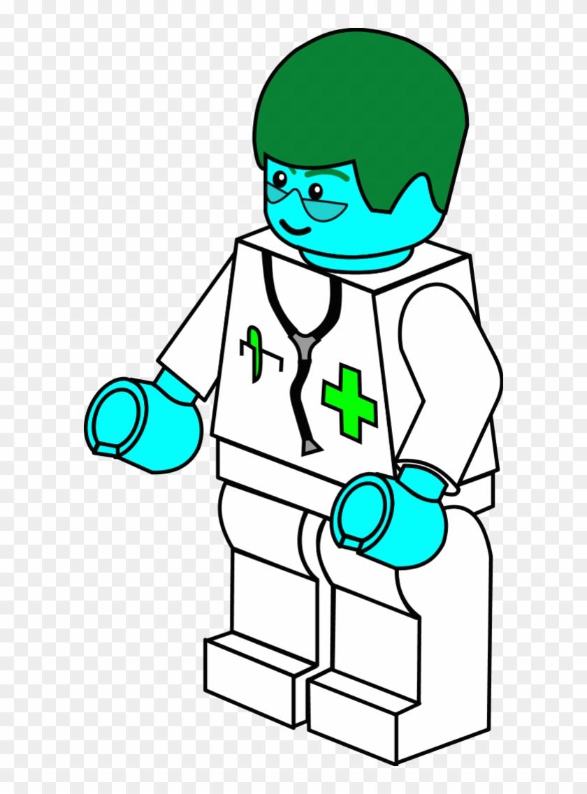 Lego Town Doctor - Lego Clipart #19186