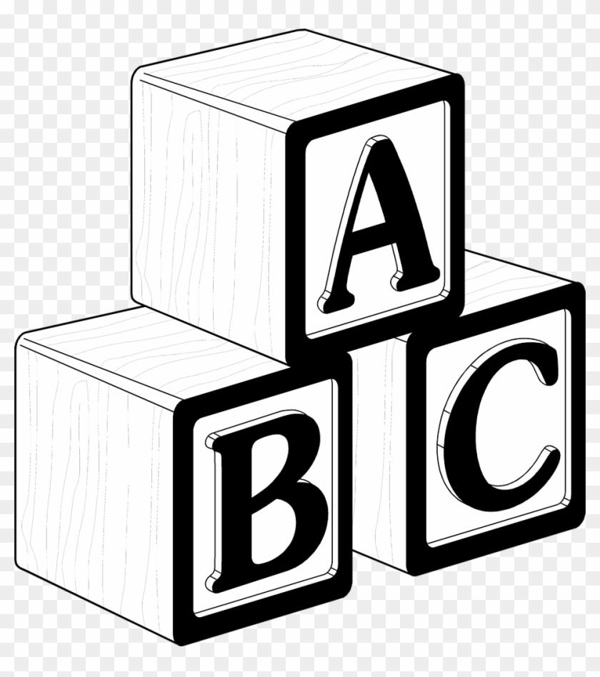 White Block Cliparts - Baby Blocks Clip Art #19191