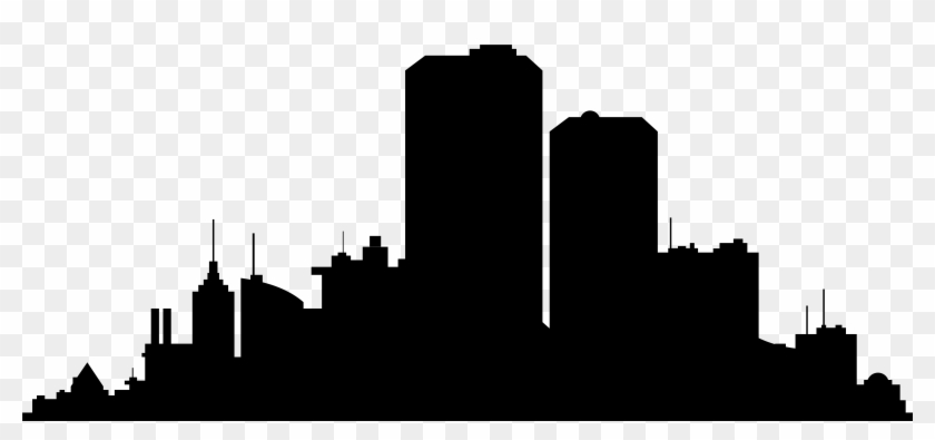 New York City Skyline Silhouette Clip Art - City Silhouette Png #19207