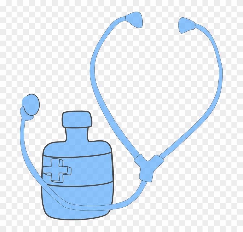 Stethoscope, Doctor, First Aid, Medicine - Estetoscópio Veterinário Clipart Fundo Preto #19208