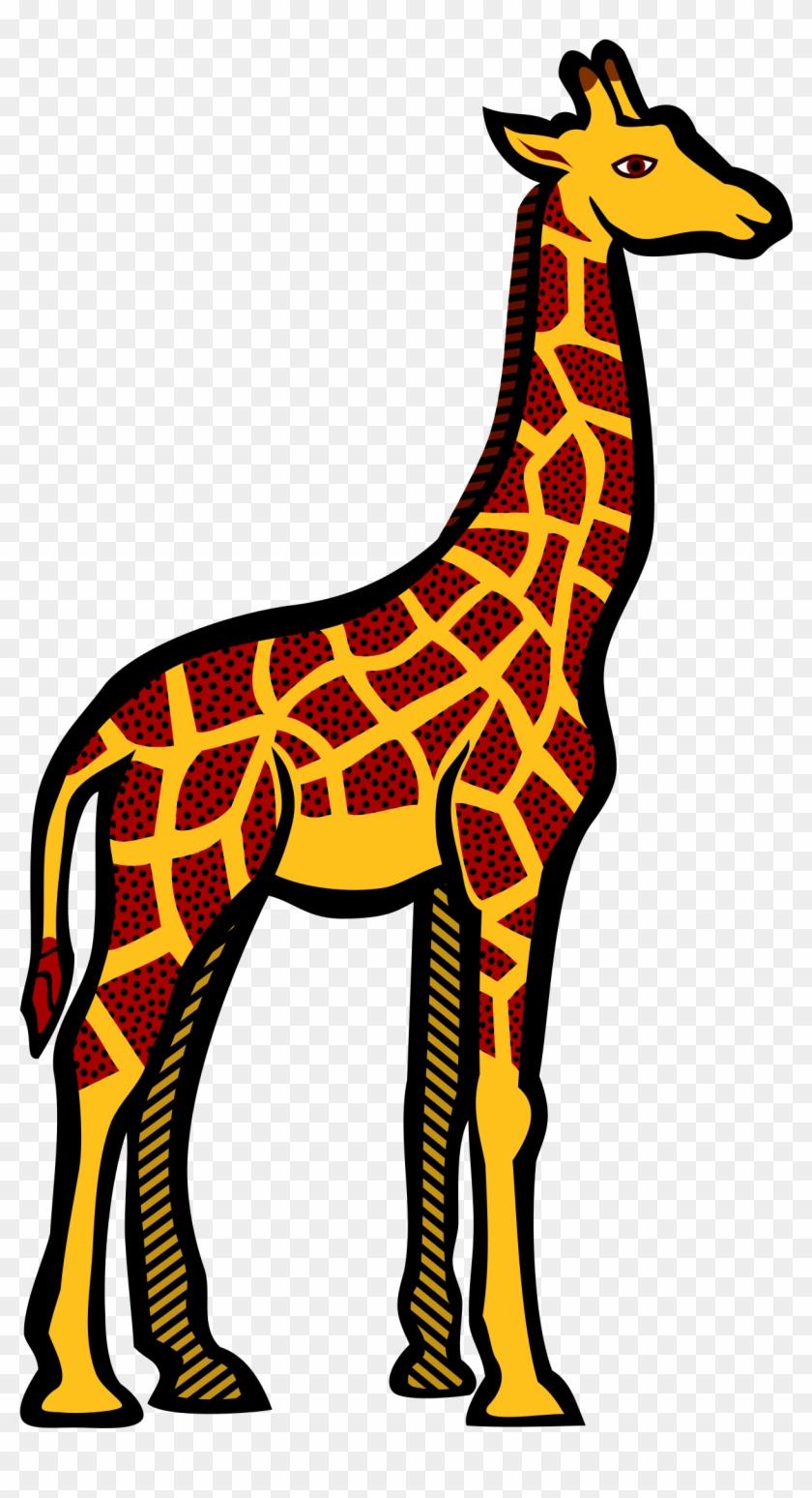 Giraffe - Coloured - Giraffe Clipart #19211