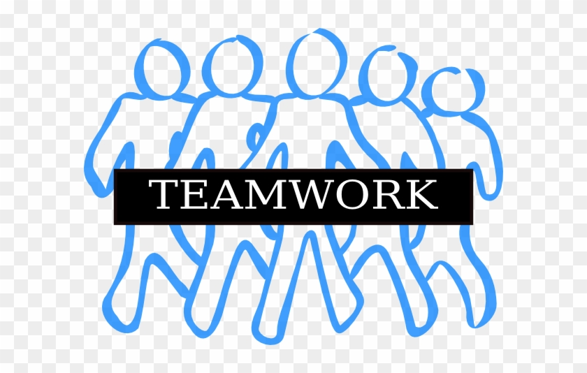 Teamwork Free Content Clip Art - Easy To Draw Group Of People #19209