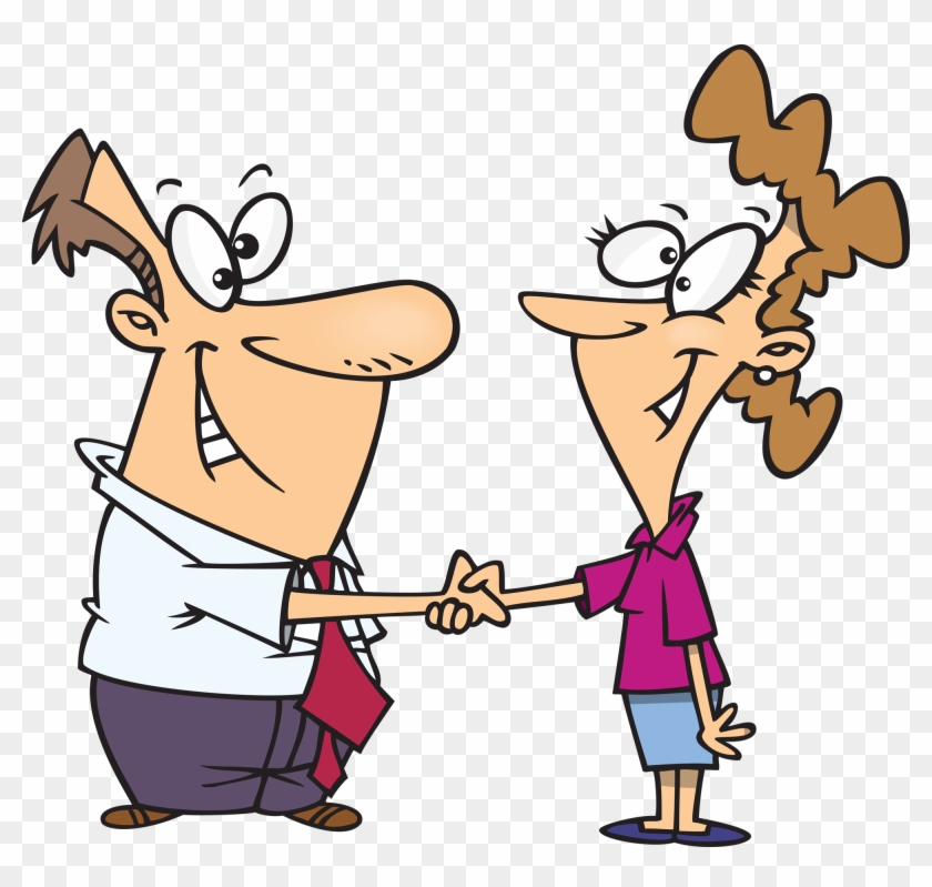 Hand Shake Clipart Free Clip Art Of Handshake - Getting To Know You #19251