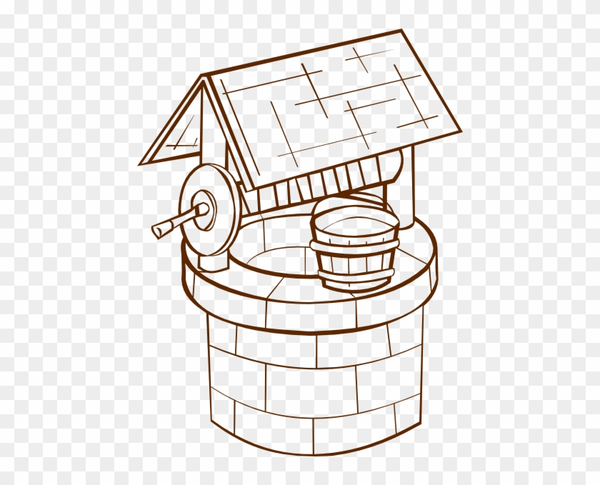 Free Vector Wishing Well Clip Art - Well Clipart Black And White #19261