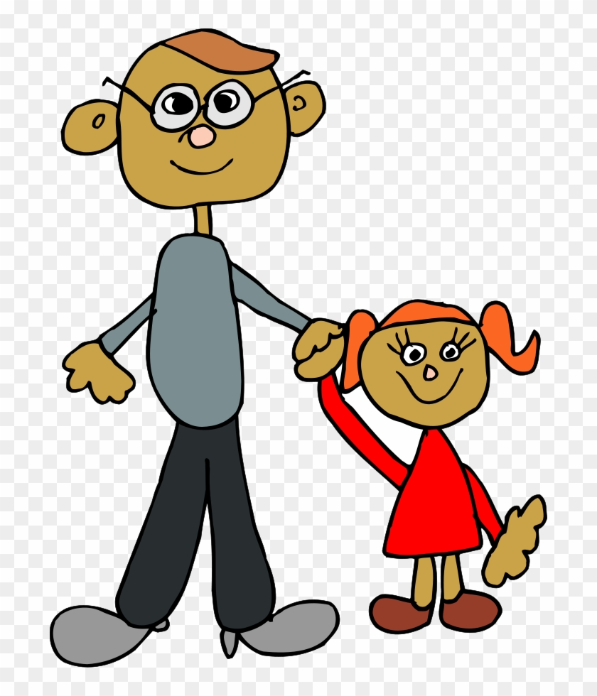 Wash Hands Clipart - Daughter And Dad Cartoon #19281