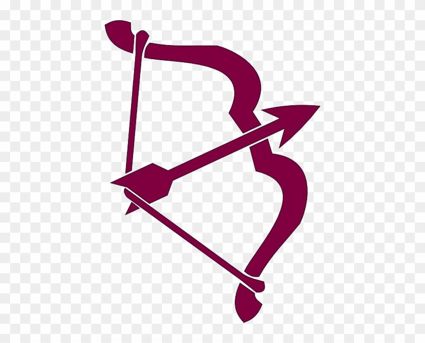 Purple Bow And Arrow Clip Art At Clker - Jai Shree Ram Sticker #19283