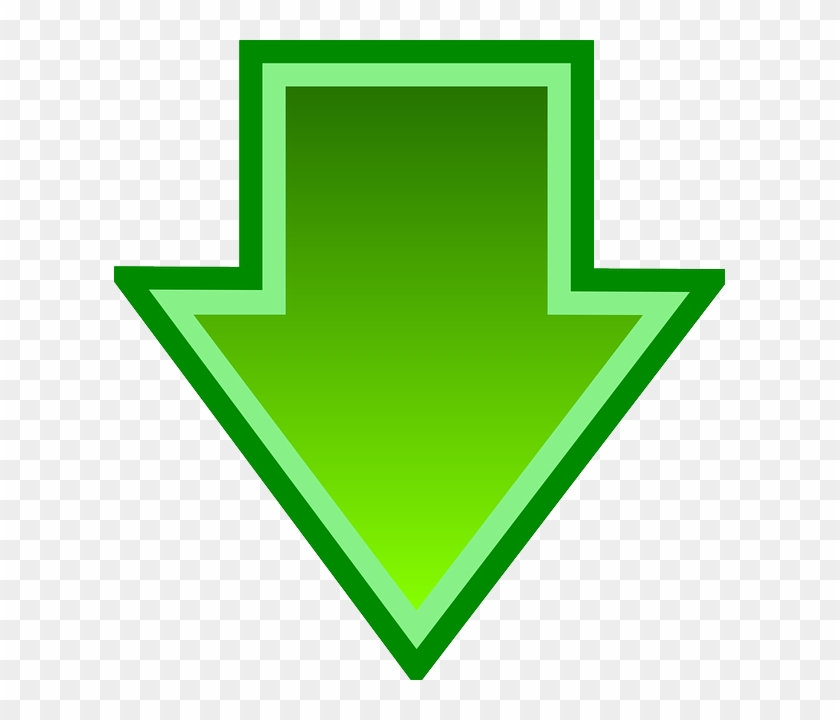 This Free Clip Arts Design Of Green Down Arrow - Green Arrow Down Png #19291