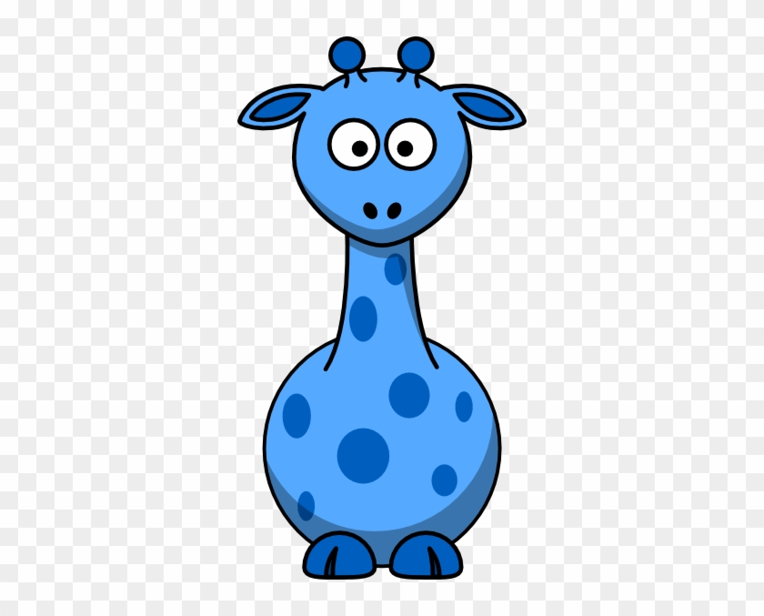 Blue Giraffe Clip Art At Clker - Cartoon Giraffe #19298