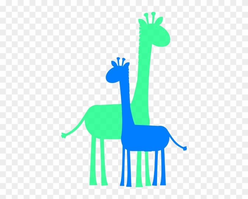 Birthday Boy Giraffes Clip Art At Clker - Blue Baby Giraffe Clip Art #19310