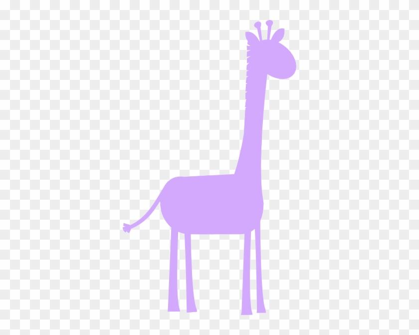 Lavender Giraffe Profile Clip Art - Girl Pink Giraffe Clip Art #19318