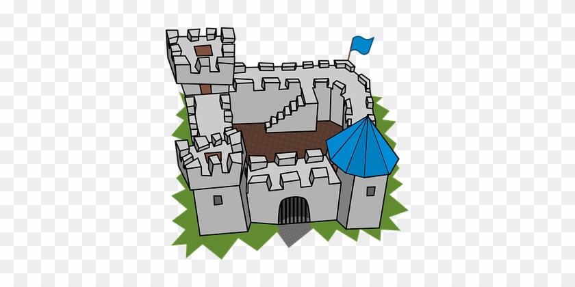 Building, Cartography, Cartoon, Castle - Castle Clip Art #19319