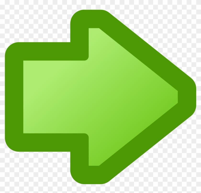 Arrow Clipart Icon - Flecha Derecha Verde Png #19331