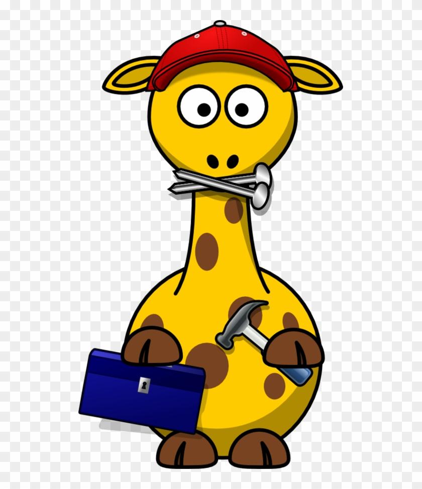 Giraffe Clip Art - Cartoon Giraffe #19332