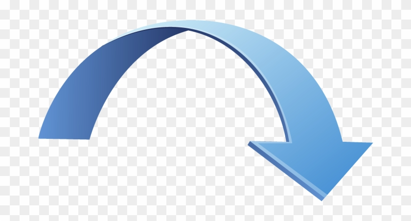 Curved Arrow Clip Art & Curved Arrow Clip Art Clip - 3d Curved Arrow Png #19339