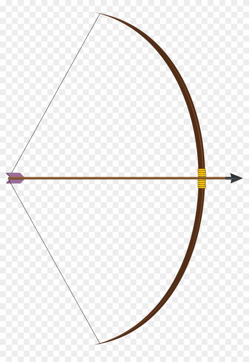 Arrow Bow Clipart - Long Bow And Arrow #19347